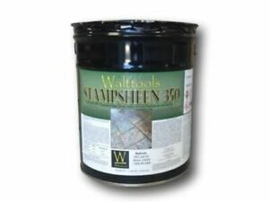 Concrete Sealer Stampsheen 350 Decorative High gloss Walttools 5 Gal