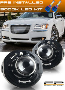 Led 2011 2014 Chrysler 300 Clear Replacement Fog Lights Housing Assembly Pair