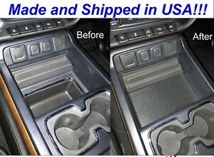2014 To 2018 Gmc Sierra Double Extended Cab Center Console Organizer Cover Ext