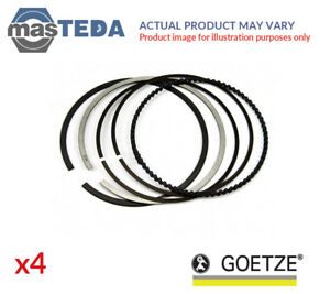 4x Engine Piston Ring Set Goetze 08 307600 00 G Std New Oe Replacement