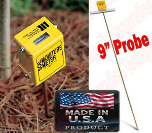 Earth Soil Water Moisture Reader Meter Tester Probe Made In Usa