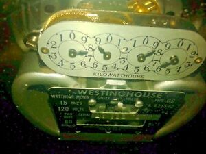 Vintage Westinghouse Electric Meter Type Cs821542 120 15 Amp Volts Single Phase