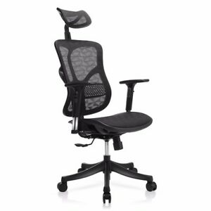 Tomcare Office Chair Ergonomic Mesh Computer Chair Modern With Rotation Headrest