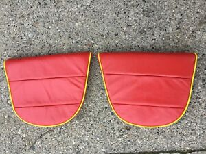 Porsche 356 Rear Seats Bottom Cushions Red