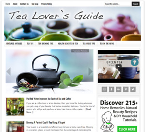 Tea Lover s Ready Made Website Business For Sale With Auto Updating Content