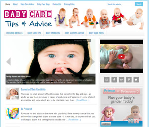 Baby Care Tips Niche Website Business Blog For Sale Automatically Updating
