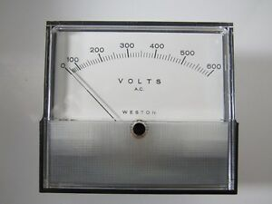 Weston Meter 2044 Range 0 600 V a c 60 Hz