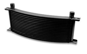 Earls 91608aerl Earls Temp A Cure Oil Cooler Black 16 Rows Wide Curved