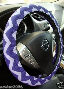 Handmade Steering Wheel Cover Purple And Lavender Chevron Zig Zag