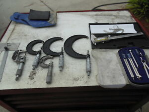 Lot Of Central Tool Co Micrometer Set Others Brands