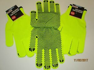 Safety Gloves Neon Yellow Traffic Safety Patrol Construction Walking Camping