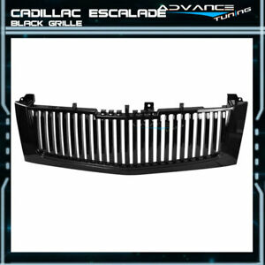 Fits 02 06 Cadillac Escalade Vertical Black Front Bumper Grill Guards Grille