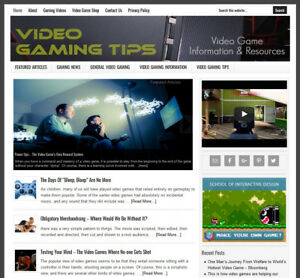 Video Gaming Niche Website Business For Sale With Automatic Content