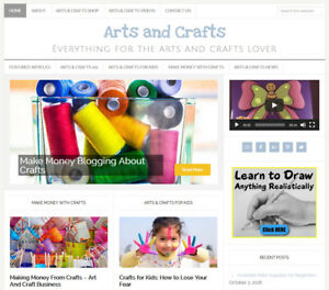 Arts Crafts Blog Niche Website Business For Sale With Automatic Content