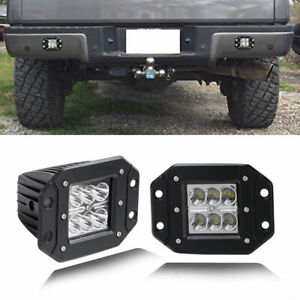 Dual Row Projector Led Fog Driving Pod Lights For Truck Jeep Off Road Atv 3 Us