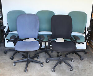 Lot Of 5 Steelcase Leap Leap V2 Chairs Black Green Blue 462leap19l 46216179