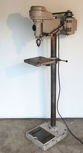 South Bend 14 Drill Press W Floor Stand Model Cd400f 14 f2a Circa 1960