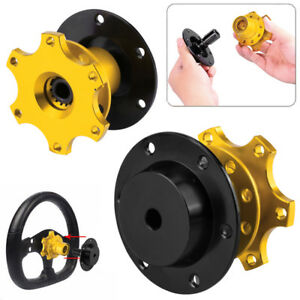 New Car Yellow Steering Wheel Quick Release Hub Racing Adapter Snap Off Boss Kit