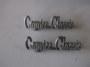 1975 1976 Chevrolet Caprice Classic Emblems Top Donk Lowrider 74 73 72 71