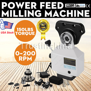 Alsgs Power Feed For Vertical Milling Machine 110v X Y Axis Al 310sx Us Fast Sp