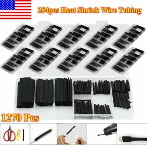 1270pcs 3 1 Heat Shrink Tubing Tube Assortment Sleeving Wrap Wire 8 Sizes Kit Al