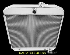 New Champion 3 Row All Aluminum Radiator 1955 1956 1957 Chevy Bel Air Belair V8