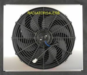 New All Aluminum Radiator Fan Shroud W 16 Fan 67 68 69 Chevy Camaro 21 Core