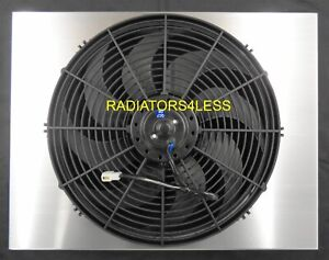New All Aluminum Radiator Fan Shroud 55 56 57 Chevy Bel Air With 16 Fan