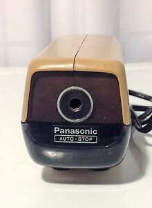 Vintage Panasonic Auto Stop Kp 88a Electric Desktop Pencil Sharpener Japan Beige