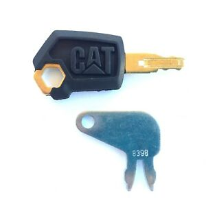 Cat Caterpillar Equipment Key Set Ignition And Master Disconnect With Logo
