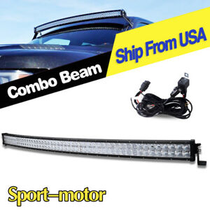 Offroad 700w 52inch Led Light Bar Curved Flood Spot Combo Truck 4x4 Roof Driving