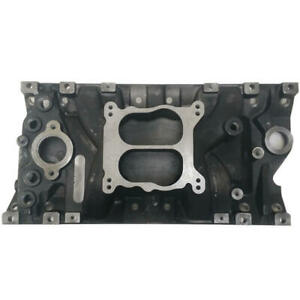 Enginequest Intake Manifold In350mb Marine Black Cast Iron For Chevy 5 0 5 7l