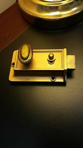 Vintage Brass Look Deadbolt