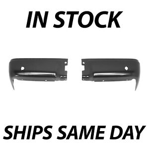 New Primered Steel Rear Bumper Ends Pair Lh Rh Set For 2009 2014 Ford F150 09 14
