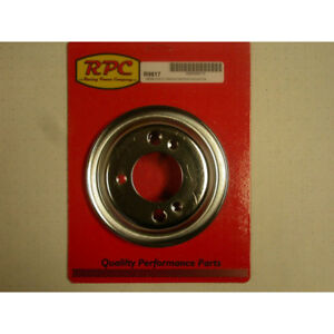 Rpc Crankshaft Pulley R9817 V Belt Chrome Steel For Chevy 265 454 Sbc Bbc