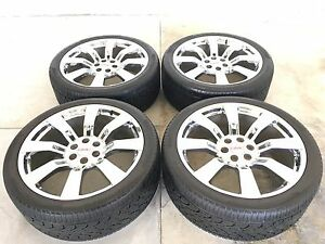 24 24 Inch Gmc Yukon Wheels Rims Oem Specs Chrome Tires Delinte 3053524 4 Set