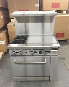 6 Burner Gas Range 24 Griddle Full Size Standard Oven 2 Burners 36 Restaurant