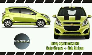 Chevy Spark Chevrolet Rally Racing Stripes Side Rocker Stripes 2013 15 Custom