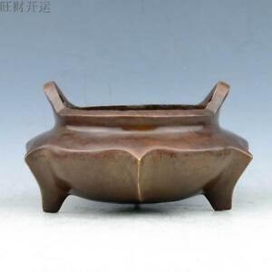 Antique China Bronze Hand Made Ming Xuande Hexagonal Incense Burners