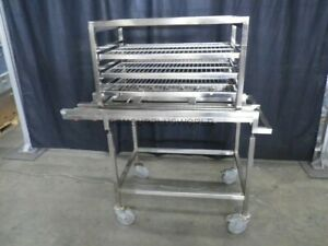 2 S Steel Mob Carts W Racking Many Shelves For More Storage Stopper For Shelves