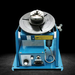 Rotary Light Duty Welding Positioner Turntable 3 jaw Lathe Chuck 2 10rpm 10kg