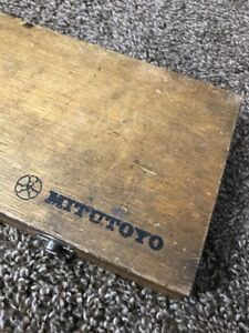 Mitutoyo 18 5 Inch Box Dial Caliper Wooden Case Box Only