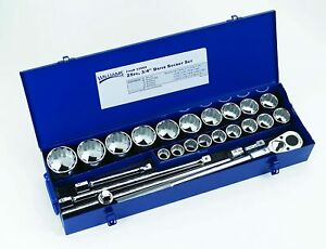 25 Piece 3 4 Socket Set With Metal Box Sae 12 Point Williams 33905
