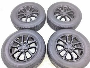 18 Jeep Grand Cherokee Black Wheels And Tires Rims Factory Oem 2017 Set 4