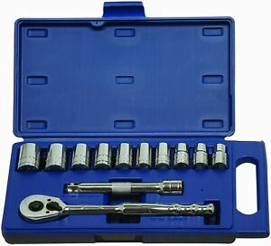 12 Piece 1 2 Drive Socket And Drive Tool Set Metric 12 Point Williams 50669