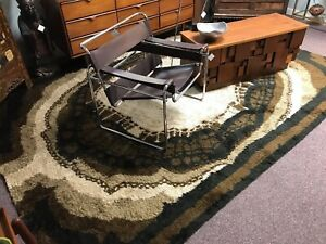 70 S Rya Danish Modern Shag Rug 8 2 X 11 3 Brown Black White