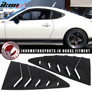 For 13 18 Scion Frs Subaru Brz Ikon Style Abs Rear Louver Quarter Window Panel