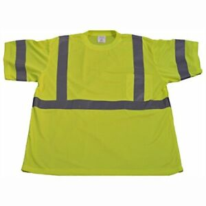 Petra Roc Lts3 S Ansi Class 2 High Vis Safety Short Sleeve T Shirt Small Lime