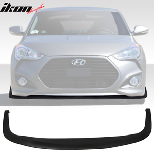 Fits 12 18 Hyundai Veloster Cs Style Front Bumper Lip Spoiler Add On Pu