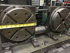 Tsudakoma 4th Axis Twin Head Rotary Table Indexer Rncv 201r2 free Shipping